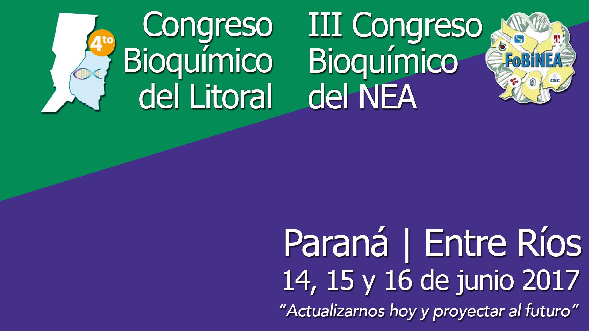 IV Congreso Bioquímico del Litoral
